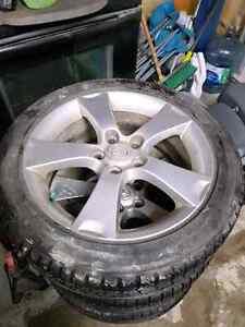 205 50 r17 All season tires with Mazda Rims