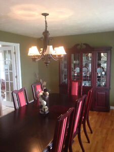 Gorgeous Cherry Wood Dining Set --- Save Thousands!!!