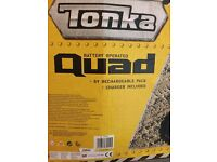 Tonka Quad kids 3 years plus, rechargeable battery