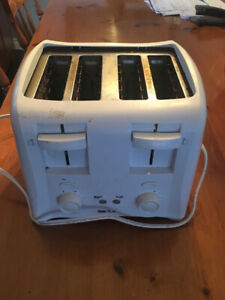 Toaster oven and four slice toaster