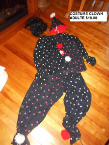 COSTUME DHALLOWEEN CLOWN POUR ADULTE.