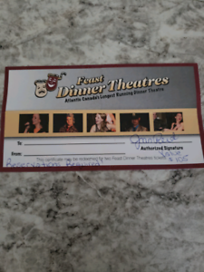 Feat Dinner Theatre gift certificate