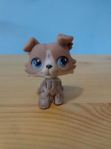 Little Pet Shop LPS Collie Puppy Dog #67 #237 Blue Eyes