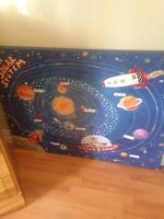 Large canvas of solar system