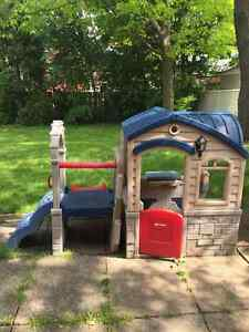 Maisonette beautiful play house with slide