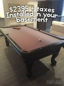 New Canadian Pool Table