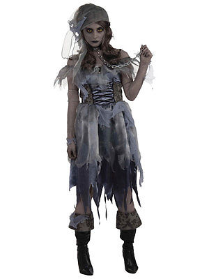 Ladies Adult Zombie Pirate Sailor Caribbean Halloween Fancy Dress Costume Outfit - Zombie Sailor Halloween Costumes