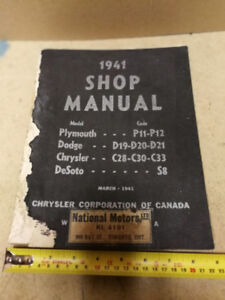 1941 Plymouth Dodge Chrysler DeSoto shop manual