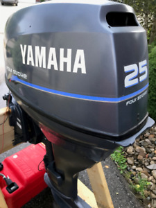 25 HP 4 Stroke Yamaha Outboard Motor with Remote Controls