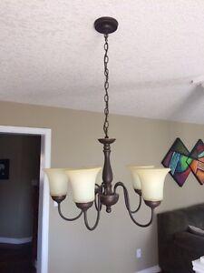 Beautiful Chandelier 5 Light Pendant Hanging London Ontario image 2