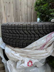 Four winter tires with steel rims