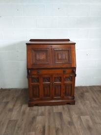 Old Charm Oak Computer Bureau