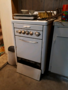 Retro white acme electric stove