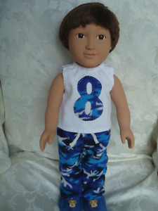 "18 "" boy doll pyjamas"
