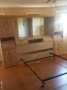 SOLID WOOD BEDROOM WALL UNIT and ARMOIR
