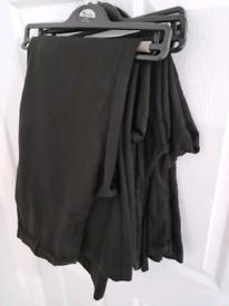 5 pairs of boys black school trousers, 15-16yrs