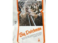 Chicken poultry track feed systems Big Dutchman