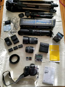Sony A33 camera and many accessories
