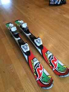 """Kids Nordica """"Nordy"""" Skis, 90 cm, with Marker Bindings"""