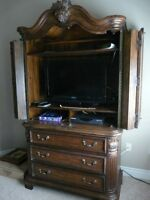 2 Pc Armoire (Solid Wood)