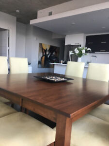 Exquisite Cherry Wood Dining Set With 8 Chairs