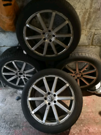 """Vw 20"""" wheels and tyres"""