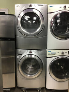"27"" SET WHIRLPOOL DUET DIGITAL GREY WASHER / DRYER"