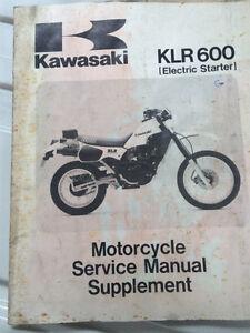 1984 1985 Kawasaki Factory KLR600 Service Manual Regina Regina Area image 5