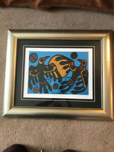 Norval Morrisseau numbered limited edition print with COA