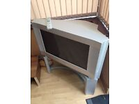 """28"""" Tv With Glass Stand"""