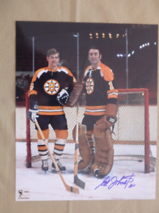 ED JOHNSTON Boston Bruins Signed 8x10 Photo W/COA