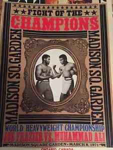 VARIOUS PROFESSIONAL BOXING POSTERS AND SOME WWF/WWE POSTERS