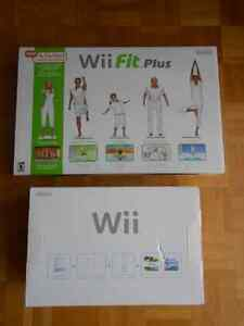 Wii console & Wii fit plus
