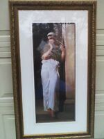 "Framed Print of Lovely Young Woman in Doorway ... ""Nausicaa"""