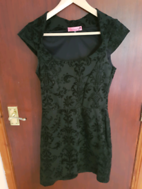 Black Print Dress Size 12