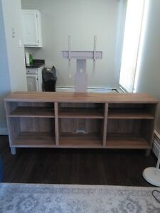 IKEA Besta TV Stand with tilt mount. Mint condition. $180 OBO