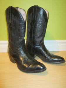 Leather Cowboy Boots size  8.5    #40