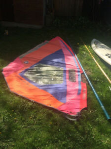 Windsurfing 2 sails plus board for free