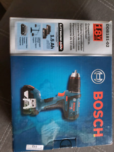 Brand new Bosch 18 volt drill and driver