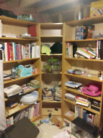 Solid Wood Bookcases ( will be emptied )
