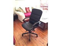 2 IKEA comfy black office desk bedroom chairs