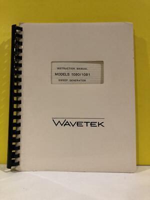 Wavetek Models 10801081 Sweep Generator Instruction Manual