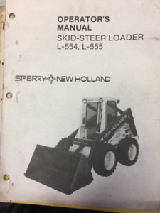 1985 Sperry New Holland Operator's Manual Skid-SteerL-554, L-555