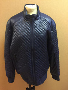 Mens Navy Finch Quilted Bomber Jacket