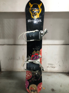 5150 Empress snowboard and bindings with Burton womens boots