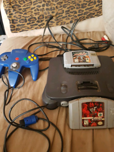 N64 with Blue controller /w memory card