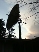 Free  13' C Band Satellite Dish With 30' Foot Pole