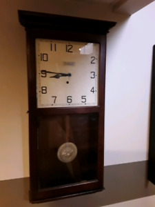Lovely Large Antique Forestville Wall Clock