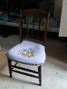 Purple wood chair