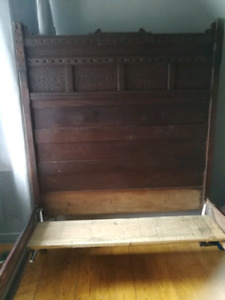 Antique Bed - Head Board and Foot Board